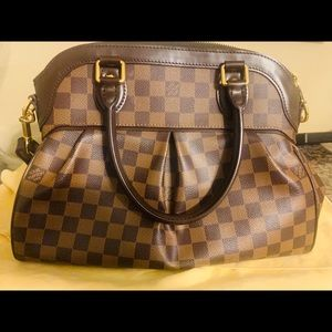 Louis Vuitton leather handbag